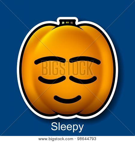 Vector Halloween Smiley Sleepy