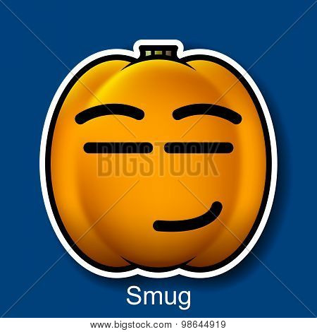 Vector Halloween Smiley Smug