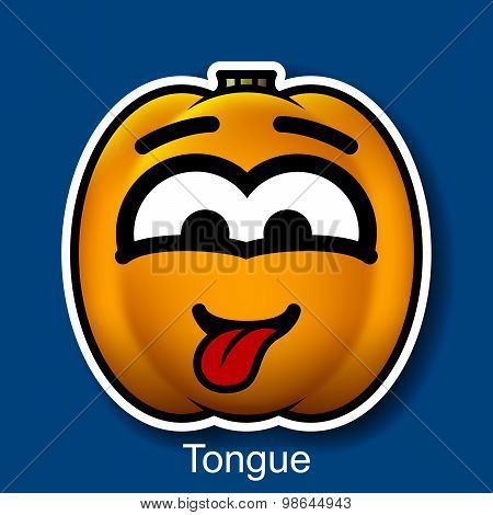Vector Halloween Smiley Tongue