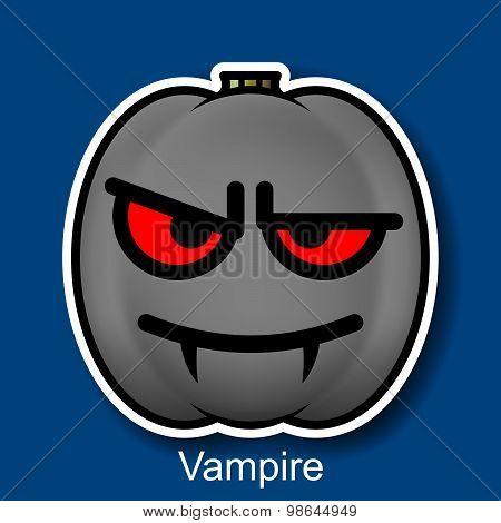 Vector Halloween Smiley Vampire