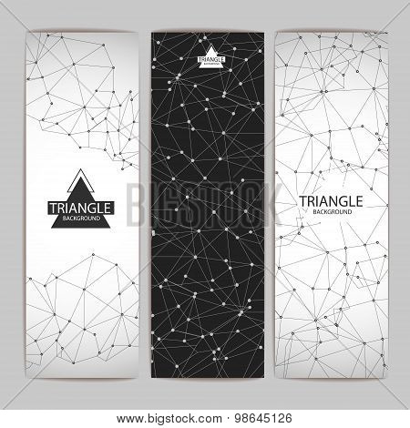 Set Of Abstract Triangle Background Banners