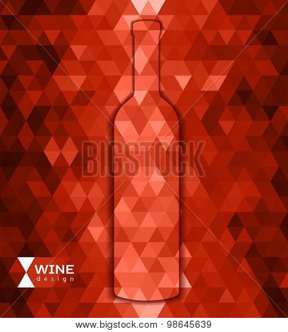 Abstract Triangle Wine Background