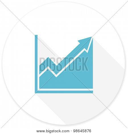 histogram flat design modern icon with long shadow for web and mobile app