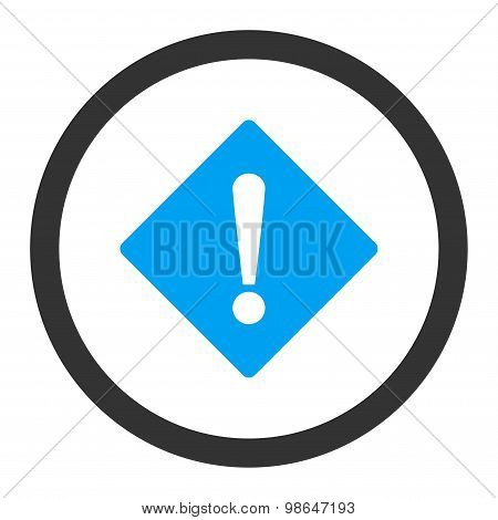 Error flat blue and gray colors rounded raster icon