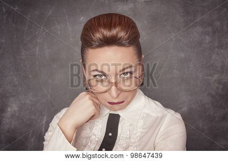 Teacher With Sad Expression