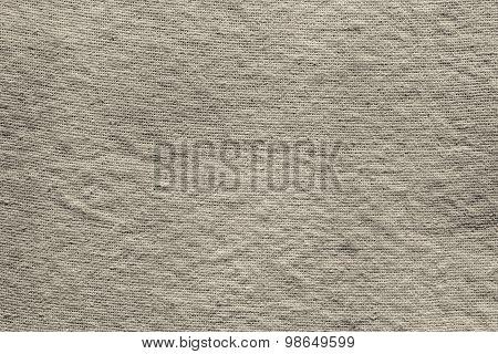 Textured Background Of Dark Beige Rough Fabric