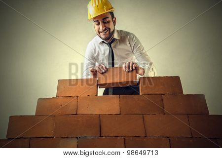Building a wall of bricks