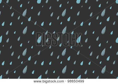 Rain pattern. Night