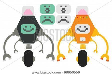 Cute flat robots
