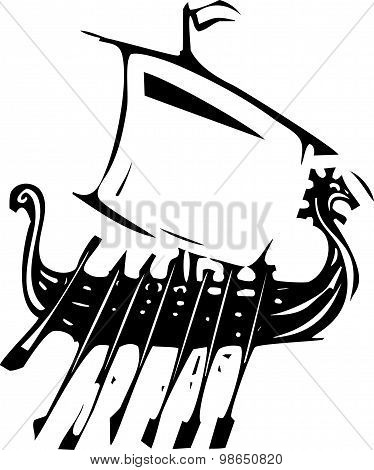 Expressionistic Viking Ship