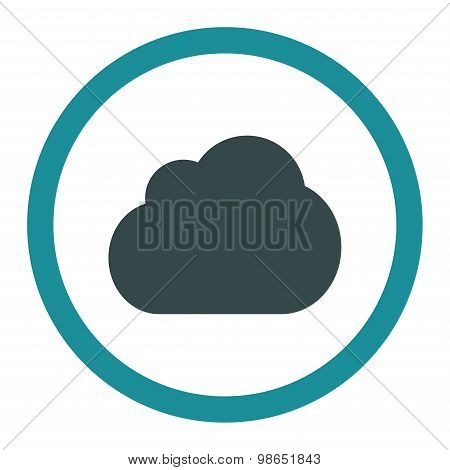 Cloud flat soft blue colors rounded raster icon