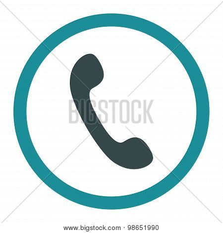 Phone flat soft blue colors rounded raster icon