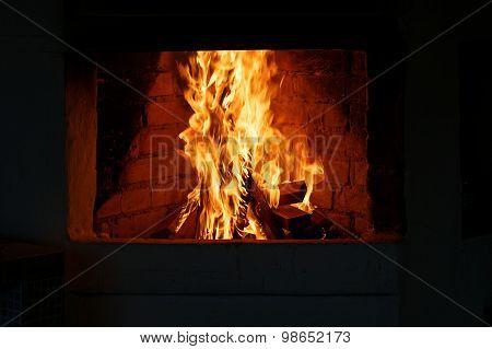 Fire In A Hearth