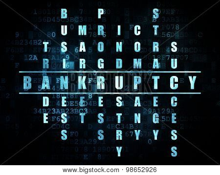 Business concept: word Bankruptcy in solving Crossword Puzzle