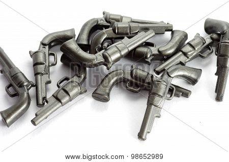 revolver plastic toy