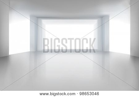 Empty room. Vector illustration.