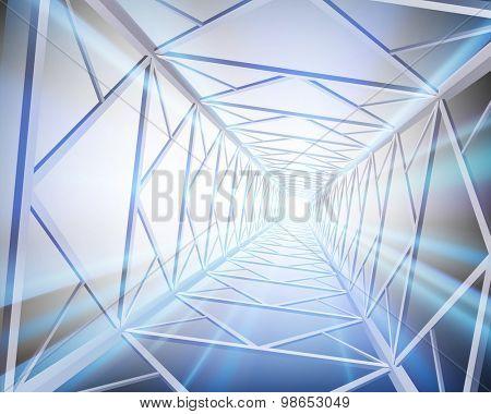 Construction of steel. Vector illustration.