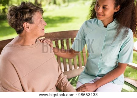 Senior Woman Spending Time Outside