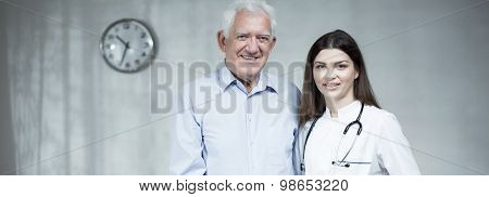 Senior Man With Female Doctor
