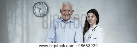 Male Retiree And Beauty Doctor