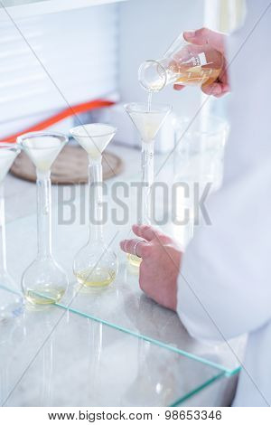 Chemistry Experiment In Laboratory
