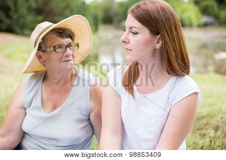 Grandma In Straw Hat