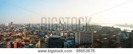 Panorama Of Antwerp, Belgium