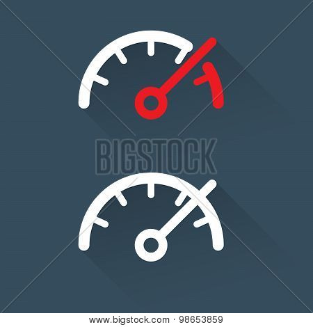 Speedometer (gauge) scale - simple icon