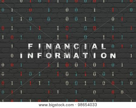 Finance concept: Financial Information on wall background