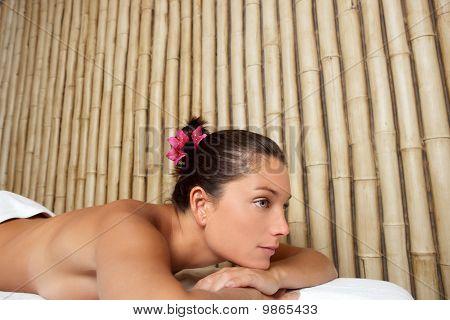 Beauty Therapy Beautiful Woman Bamboo