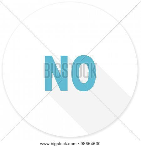 no flat design modern icon with long shadow for web and mobile app