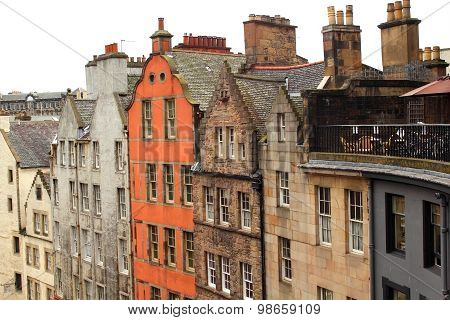 Old, Historical Architecture In Edinburgh, Scotland, Uk