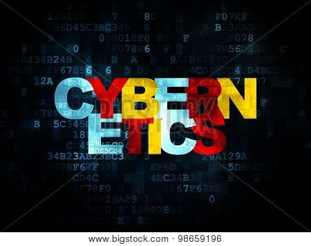 Science concept: Cybernetics on Digital background
