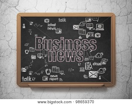 News concept: Business News on School Board background