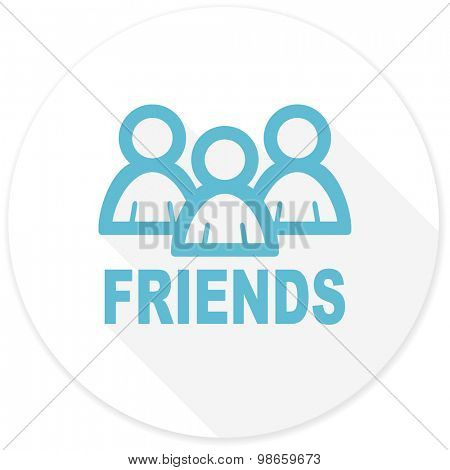 friends flat design modern icon with long shadow for web and mobile app