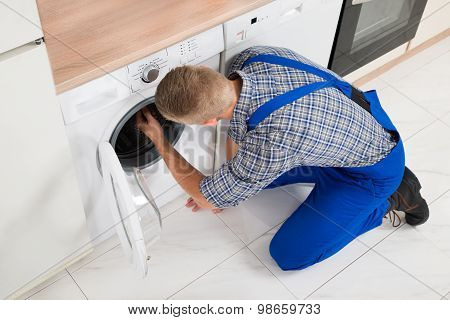 Worker Making Washer