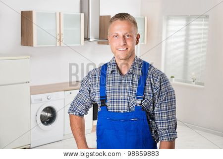 Repairman In The Kitchen