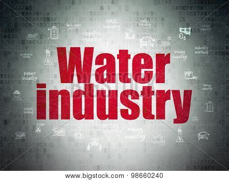Industry concept: Water Industry on Digital Paper background