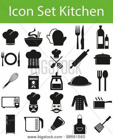 Icon Set Kitchen