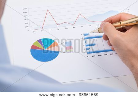 Businessperson Analyzing Statistic Chart