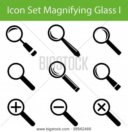 Icon Set Magnifying Glass I