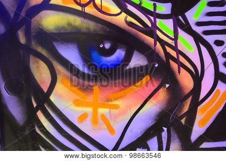 Street art eye by Zilon