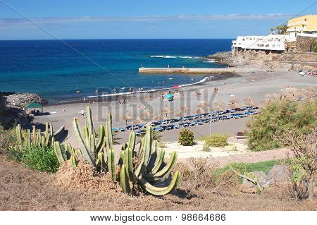 Beautiful Playa de Alabo beach in Callao Salvaje on Tenerife, Spain