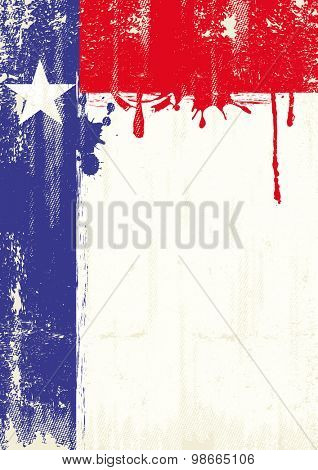 Texas fresh painting poster .A texas flag with fresh painting and a grunge texture for your publicity