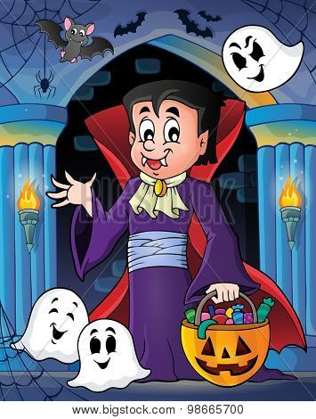 Halloween vampire theme image 4 - eps10 vector illustration.