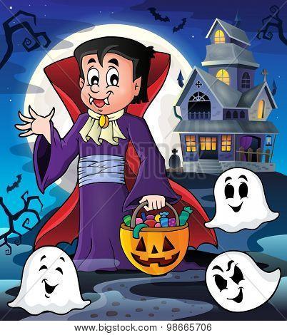 Halloween vampire theme image 3 - eps10 vector illustration.