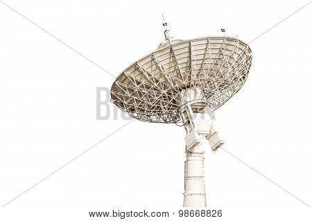 Satellite Dish Antenna Radar Big Size Isolated On White Background