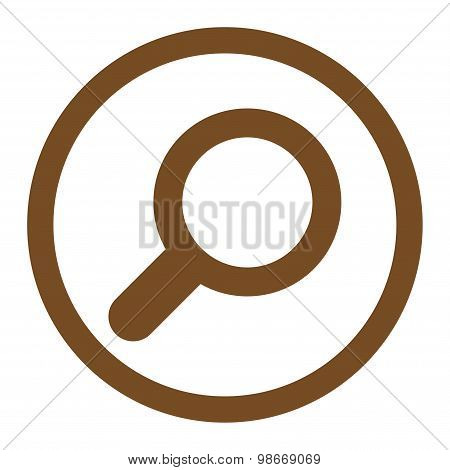 View flat brown color rounded vector icon