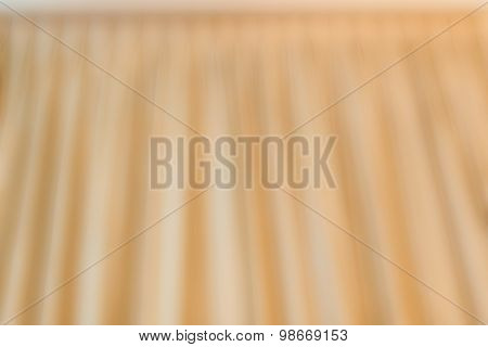 Abstract Of Golden Curtain On Ceiling