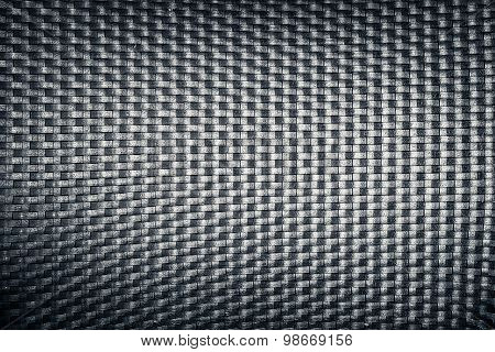 Plastic Woven Wicker Pattern, Black Color Background Texture